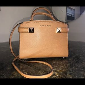 New, never worn, Saddle Brown MK purse